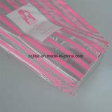La bolsa de plástico polivinílica de BOPP con la tarjeta inferior dura