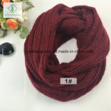 Грелка шеи шарфа безграничности способа Mohair зимы европейской связанная равниной