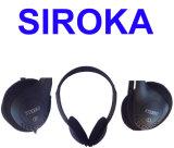 Модным связанные проволокой спортом наушники черни наушника MP3