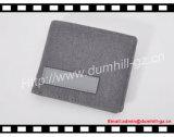 Бумажник ткани для людей с тканевым материалом PU внутренним сопрягая снаружи для промотирования