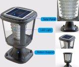 Paisagem de Jardim Exterior Europeu Solar LED Pillar Light 1W