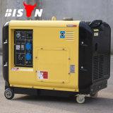バイソン(中国) OEMの工場BS6500dsea 5kVA 5kw南アフリカ共和国の発電機のAir-Cooled携帯用ディーゼル5000W無声発電機220V 5.5kwの価格