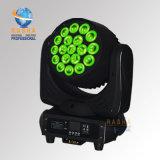 Rashaの高品質のDJクラブ党のためのPowercon DMX Powerconの熱い販売19*10W 4in1 RGBWのズームレンズLEDの移動ヘッド洗浄ライト