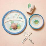Jeux en bambou de vaisselle de fibre de modèle de bébé de vaisselle en bambou neuve respectueuse de l'environnement de fibre (YK-BS1009)