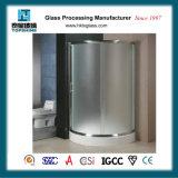 ANSIおよびEn12150証明書が付いている緩和されたガラスのシャワー・カーテン