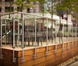 외부 Framelss 유리제 발코니 테라스 갑판 방책/유리제 포스트/유리제 Baluster