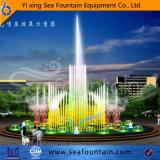 Fontana cambiante di musica di colore di figura rotonda nel raggruppamento di acqua