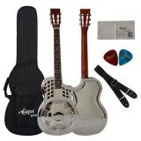 中国Aiersiパーラーのサイズ真鍮ボディCutwayの共鳴器のギター