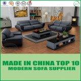 Sofá moderno do couro do canto do lazer da mobília para a sala de visitas