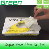 Solamente guantes seguros de trabajo no reutilizables del vinilo del alimento con la categoría alimenticia