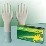 Белизна Micky перчаток Exmination латекса хорошего цены Non-Sterile устранимая