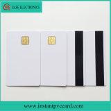 Cartão do PVC da microplaqueta do branco 4428 com a listra magnética de Hico