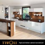 Gebrauchsfertige weiße hölzerne Küche-Schränke mit europäischem Küche-Entwurf Tivo-0092h