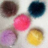 Пушистый животный шарик шерсти оптовой продажи Pompom шерсти Fox Keychain