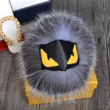 Halloweenのギフトのウサギの毛皮の球Keychainのモンスターの毛皮Keychain