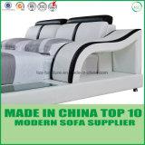 Mobilia elegante della base del cuoio genuino della camera da letto