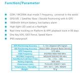 높은 LED 빛과 Sos 단추 1800mAh 지원 WiFi (GPT06-3G)를 가진 3G 자산 GPS 추적자