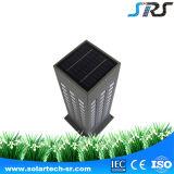 Alta lámpara solar al aire libre de aluminio del modelo del cedazo del jardín de la luz del césped del funcionamiento de coste