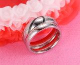 El amor de acero inoxidable quirúrgico personalizado forma anillo de bodas para parejas