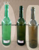 750ml等級の食品等級、通されたポート、オリーブ色(茶色)、深緑色、エメラルドグリーンのボルドーの赤ワインのびん