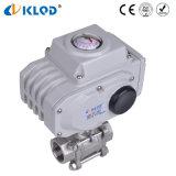 Acier inoxydable Q911f-16-Dn25 actionné électrique robinet à tournant sphérique de 1 pouce pour contrôler la vapeur d'eau d'air