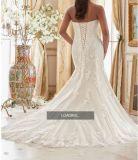 2017 robes de mariage nuptiales de sirène de lacet Ctd207