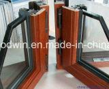 2017新しいデザインアルミニウム覆われた木製の開き窓のWindowsか傾きおよび回転Windows