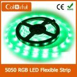 Luz de tira flexível brilhante elevada do diodo emissor de luz de SMD5050 DC12V