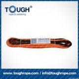 Fibra 100% resistente de Uhwmpe da corda da corda sintética alaranjada do guincho 12mmx28m4X4
