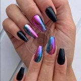 Camaleón de uñas de acrílico espejo cromo de gel de pigmento de polaco