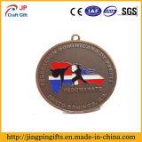Médaille 3D antique faite sur commande avec la lanière