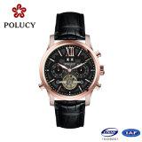 自動OEMの高品質のローズの金の骨組腕時計