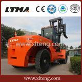 30 toneladas grande Forklfit diesel con los neumáticos delanteros dobles
