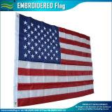 Il poliestere ricamato Stati Uniti delle stelle 210d Oxford barra la bandiera americana (J-NF16P18001)