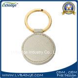 Alta calidad promocional de encargo Keychain de cuero barato