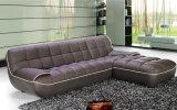Sofà di cuoio moderno per mobilia domestica