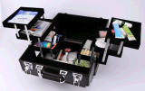 Grande capacidade de estofamento multifuncional portátil Casos de maquiagem de alumínio