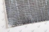 耐火性のアルミホイルの上塗を施してあるガラス繊維の布