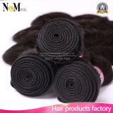 卸し売り加工されていなく自然な人間の毛髪/100%年バージンのブラジル人の毛