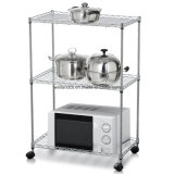 Multi-Purpose Chrome Metal Cocina Microondas Horno Rack en la mesa