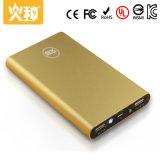 Cargador dual 8000mAh del teléfono móvil de la salida de la batería móvil de la potencia de la aleación de aluminio D9