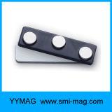 Badge magnétique des aimants NdFeB Balise du nom de fixation