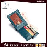 純粋なオイルのワックスの革タブの札入れの袋のお金クリップ財布