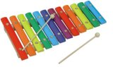 8-Key Metal Xylophone Musical Toy