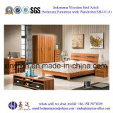 اندونيسيا خشبي الملك الأثاث سرير فندق نوم (SH-013 #)