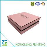カスタムロゴの堅いボール紙のピンクの宝石類のギフト用の箱