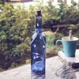 Cutie llamativo brillante estupendo forma la botella casera de cristal pura de la luz de la decoración