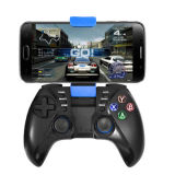Tipo duplo do manche de Bluetooth Gamepad do uso do telefone móvel da vibração com grampo
