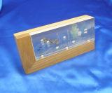 Personalizzare il blocco per grafici magnetico magnetico di legno libero della foto della cornice PMMA