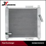 Refrigerador de petróleo de alumínio da máquina escavadora da barra e da placa